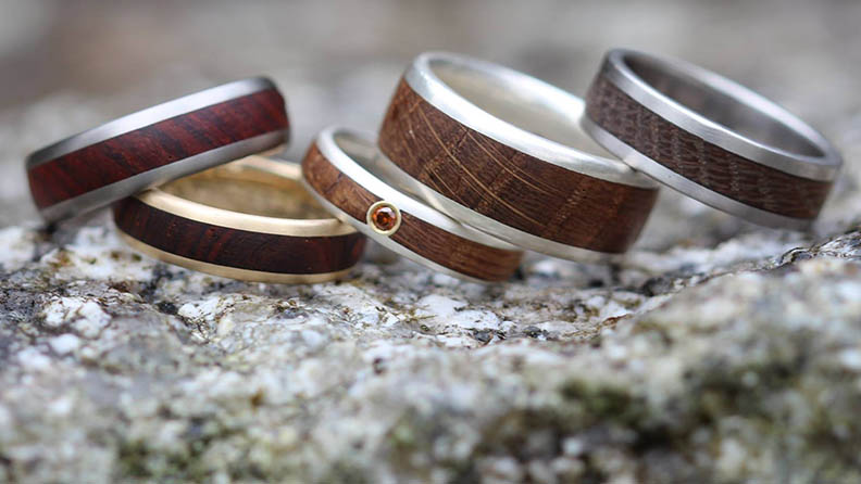 justin duance wooden wedding rings