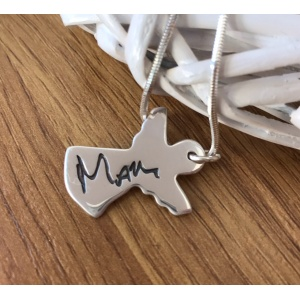 Silver Charm with YOUR ACTUAL Handwriting