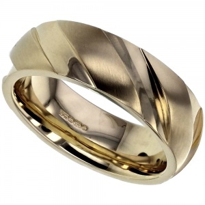 Grooved Gold Ring