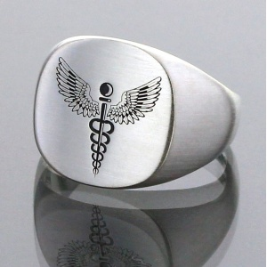 Medical Id Alert Signet Ring