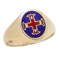 Conclave Red Cross of Constantine Signet Ring