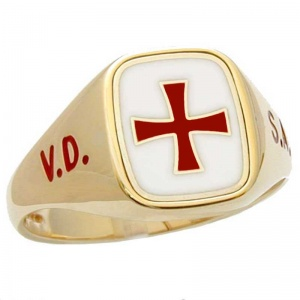 English Knights Templar Ring - Signet