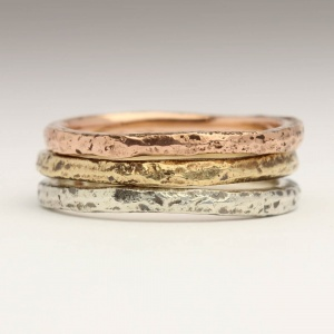Handmade Sand Cast Stacking Rings