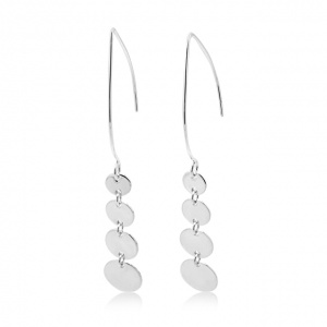 Cherish Circle Dangle Marquise Earrings (large)